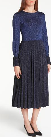 Bruce By Bruce Oldfield , Knit Pleated Dress