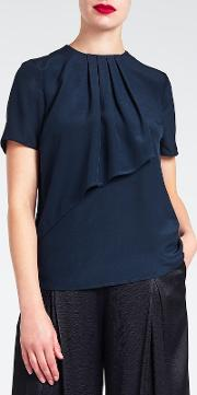 Bruce By Bruce Oldfield , Short Sleeve Drape Top
