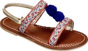 John Lewis , Children's Lulu Pompom Sandals
