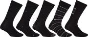 John Lewis , City Socks, Pack Of 5, Black