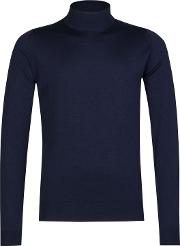 John Smedley , Harcourt Turtle Neck Jumper, Midnight