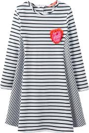 Joules , Little Joule Girls' Loralie Stripe Dress, Blackwhite