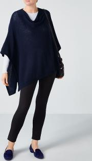Pure Collection , Drop Back Knitted Poncho