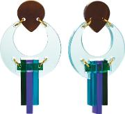 Toolally , The Peacock Drop Earrings, Aquamulti