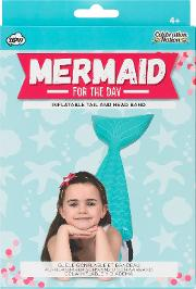 Npw , Mermaid For The Day Inflatable Tail And Headband