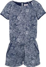 Fat Face , Girls' Paisley Jersey Playsuit