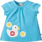 Frugi Organic , Baby Amber Applique Duck T Shirt, Blue