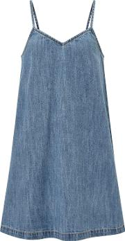 John Lewis , Children's Denim Pinafore Dress