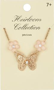John Lewis Heirloom Collection , Butterfly Necklace