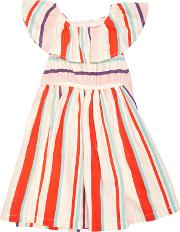 Margherita Kids , Baby Yarn Dye Multi Stripe Dress, Mutli
