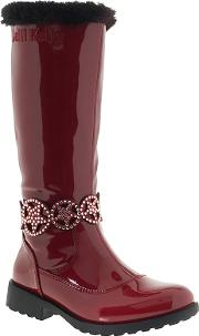 Lelli Kelly , Children's Ann High Vernice Faux Fur Lined Boots