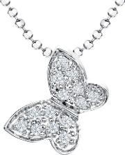 Jools By Jenny Brown , Cubic Zirconia Butterfly Pendant Necklace, Silver