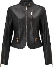 Bruce By Bruce Oldfield , Leather Jacket, Black