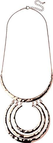 Adele Marie , Textured Large Rings Pendant Necklace
