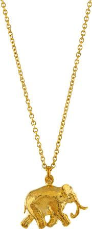 Alex Monroe , 22ct Gold Plated Sterling Silver Elephant Pendant Necklace, Gold