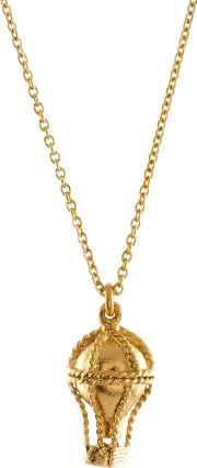 Alex Monroe , 22ct Gold Plated Sterling Silver Small Hot Air Balloon Pendant Necklace, Gold