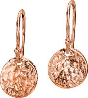 Dower & Hall , Textured Disc Drop Earrings