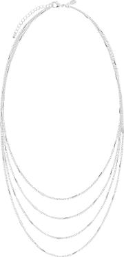 Joma , Layered Chain Necklace, Silver