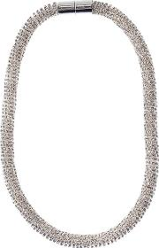 Adele Marie , Faceted Glass Beads Rope Necklace, Silver