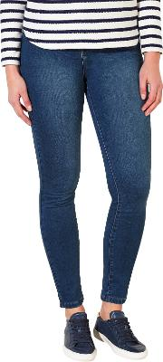 Collection Weekend By John Lewis , Lex Super Stretch Skinny Jeans, Mid Blue