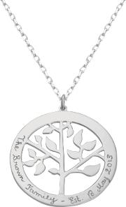 Merci Maman , Personalised Tree Of Life Necklace