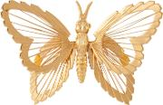 Susan Caplan Vintage , Monet Gold Plated Butterfly Brooch, Gold