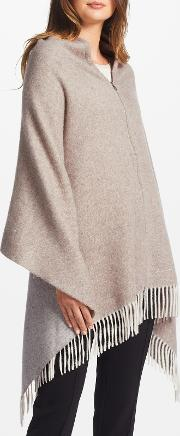 Marc Cain , Embellished Wool Cape