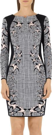 Marc Cain , Check & Swallow Jacquard Dress