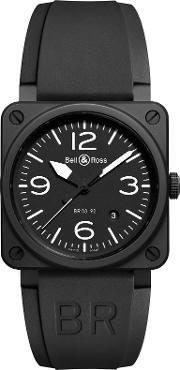 Bell & Ross , Br0392 Bl Ce Men's Rubber Strap Watch