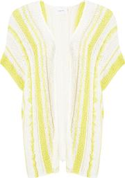 Sita Murt , Open Knit Stripe Cardigan, Unicyellow