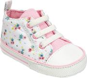 John Lewis , Baby Floral Canvas Booties