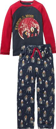 Children's Baboon Jersey Pyjamas
