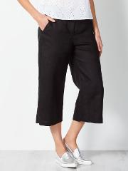 Collection Weekend By John Lewis , Wide Leg Linen Trousers, Black