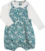 John Lewis Heirloom Collection , John Lewis Baby Heirloom Collection Ditsy Bibshort And T Shirt Set