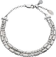 Under The Rose , Personalised Double Morse Code Silver Bracelet