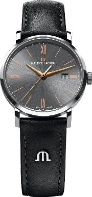 Maurice Lacroix , El1094 Ss001 311 2 Women's Leather Strap Watch
