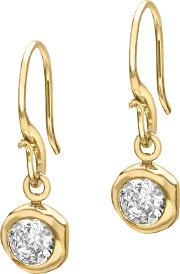 Dower & Hall , 18ct Gold Vermeil Round Topaz Dew Drop Earrings, Gold