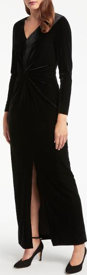 Bruce By Bruce Oldfield , Twist Velvet Maxi Dress