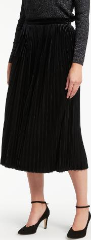 Bruce By Bruce Oldfield , Velvet Pleated Skirt