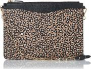 L.k.bennett , Animal Print Leather Pouch