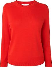 Red , Maisy  Silk Cotton Top