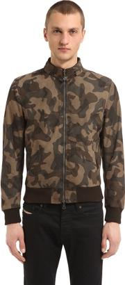 Matchless London , Reversible Suede Camo Bomber Jacket
