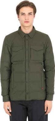 The North Face Red , Hoodoo Nylon Shirt Style Down Jacket