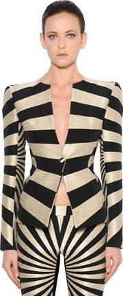 Gareth Pugh , Single Breasted Graphic Jacquard Jacket