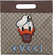 Gucci , Donald Duck Gg Supreme Medium Tote Bag