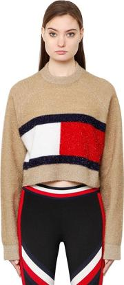 Tommy Hilfiger Collection , Flag Brushed Lurex Knit Sweater