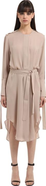 Calvin Klein Collection , Double Georgette Trench Dress