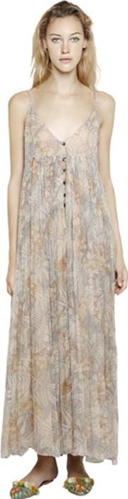 Mes Demoiselles , Printed Viscose Chiffon Maxi Dress