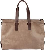 Officine Creative , Suede & Leather Duffle Bag