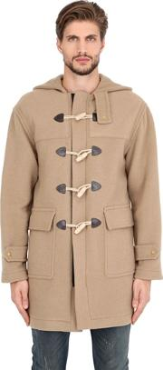 Palm Angels , Hooded Wool Blend Duffle Coat